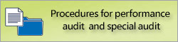 Procedures for performance audit and special audit